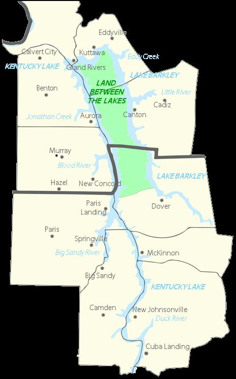 Kentucky Lakes Area Interactive Map