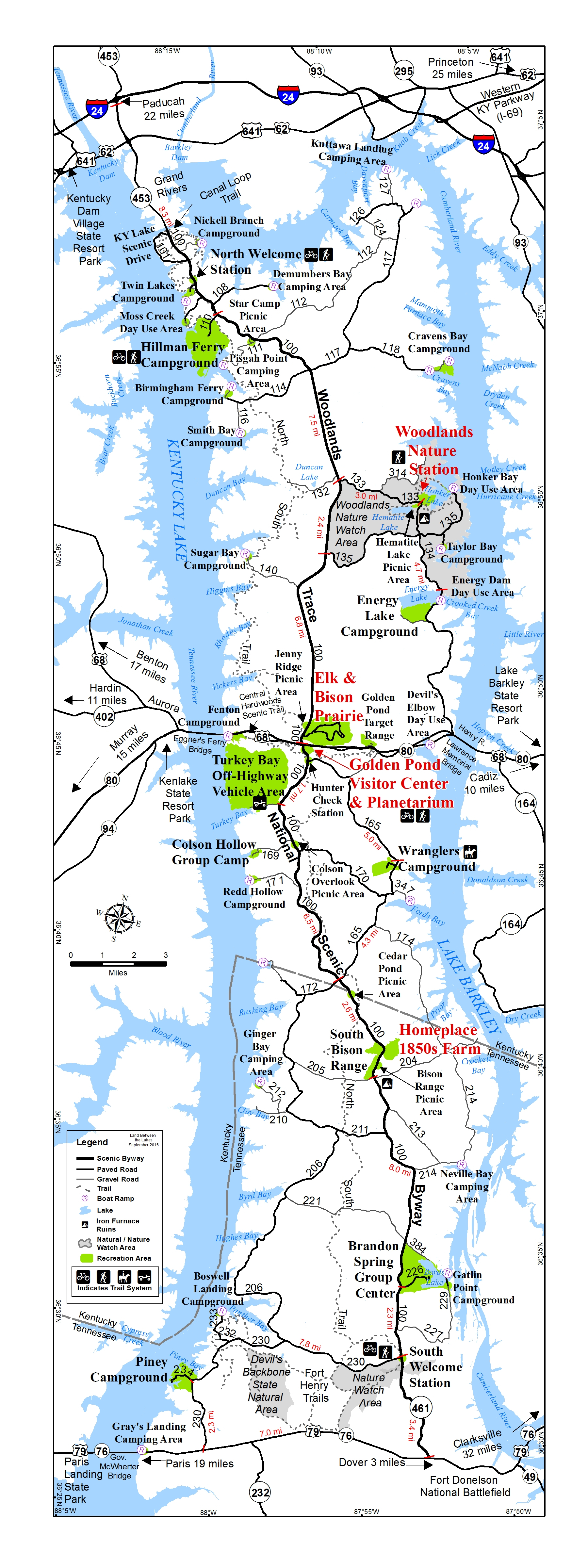 Camping In Tennessee Map.Backcountry Camping In Land Between The Lakes